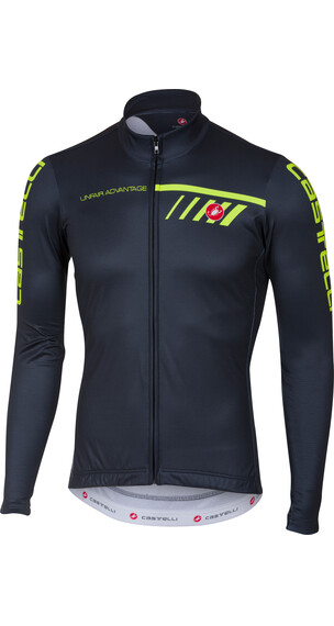 Castelli Velocissimo 2 Jersey FZ Men light black/yellow fluo
